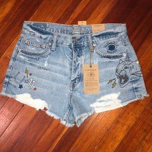 Vintage Hi-rise Festival Shorts